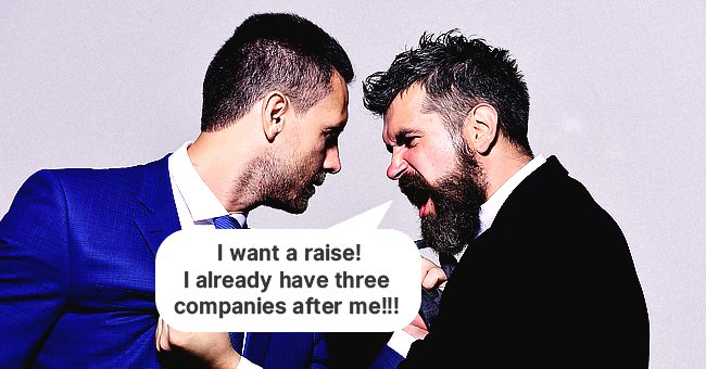 An employee asking for a salary raise from his boss | Source: Shutterstock