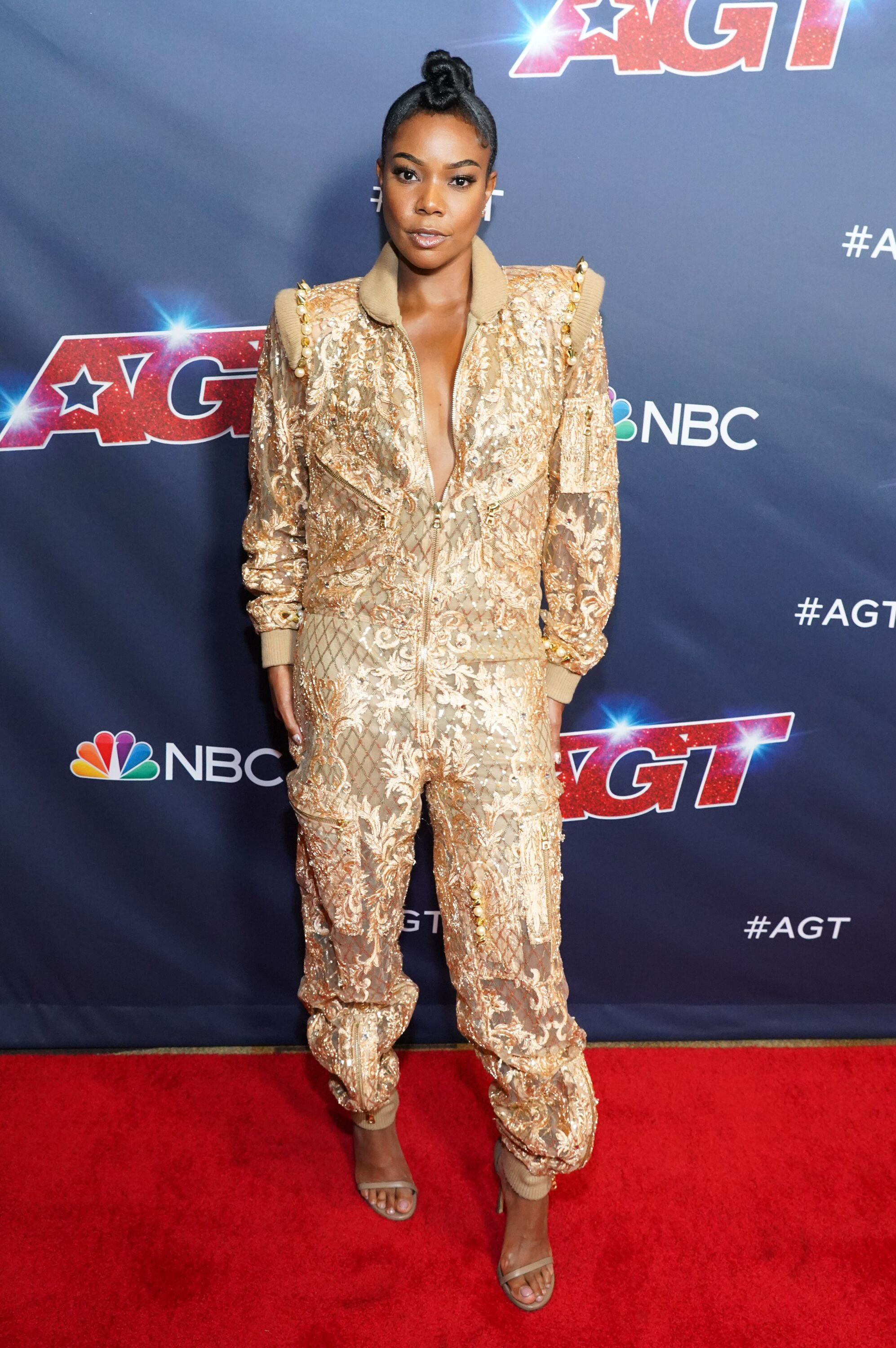 "Gabrielle Union while at the ""America's Got Talent"" red carpet 