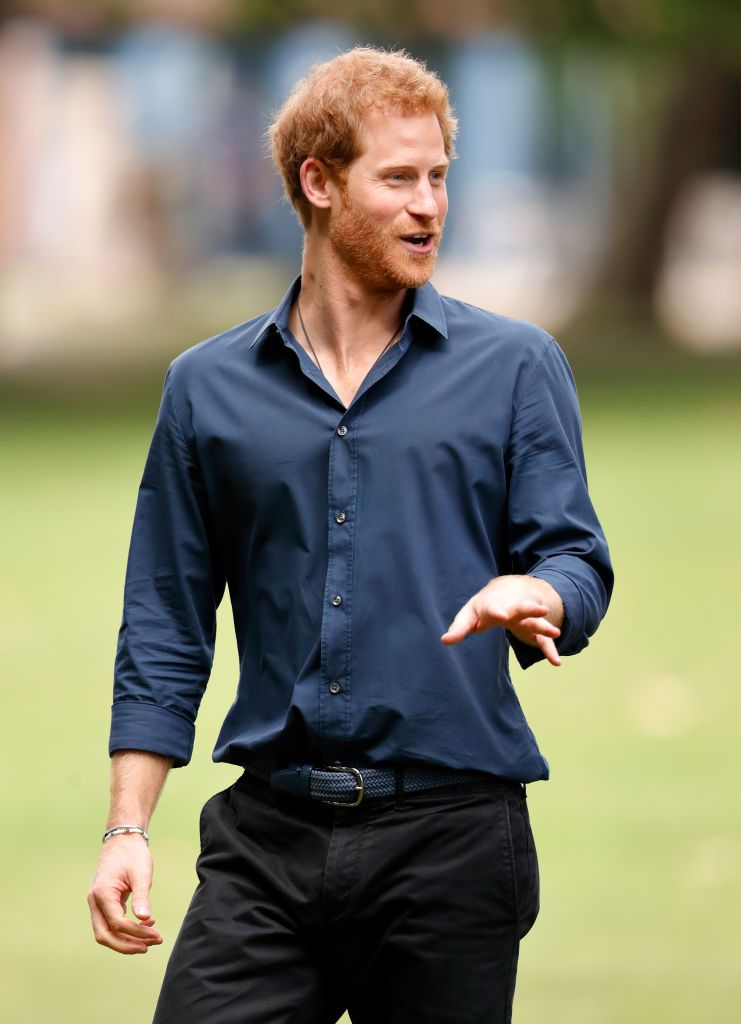 """Prince Harry during a visit to a StreetGames """"Fit and Fed"""" summer holiday activity session in Central Park, East Ham on July 28, 2017, in London, England   Photo: Getty Images"""