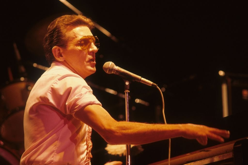 Jerry Lee Lewis performing in Rome, Italy, 1987 | Getty Images