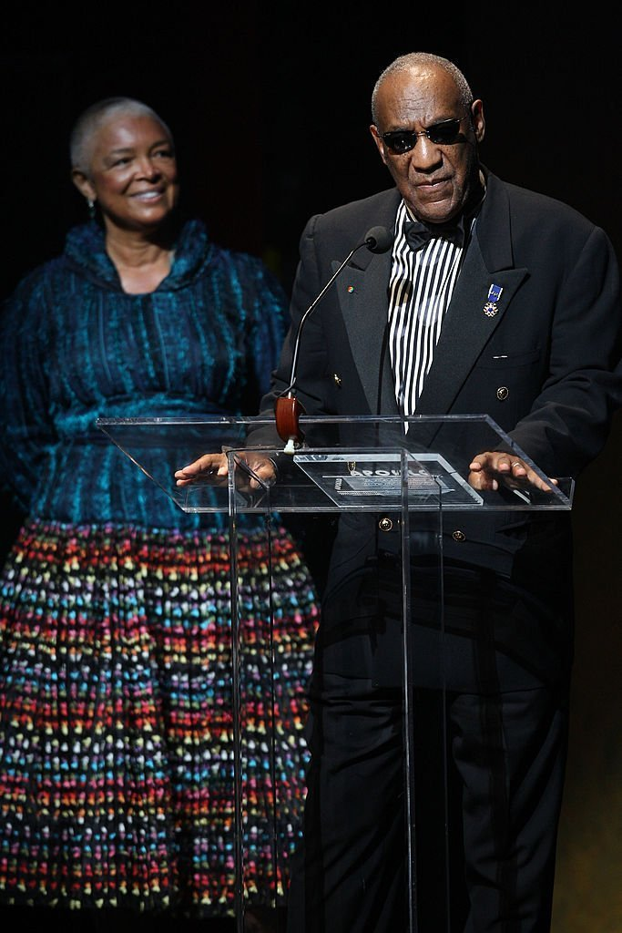 Bill Cosby and his wife Camille Cosby speak onstage at the Apollo Theater 75th Anniversary Gala at The Apollo Theater | Photo: Getty Images