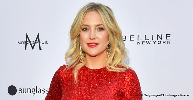 Kate Hudson Flaunts New Curly Hairdo Dazzling in a Scarlet Curve-Hugging Dress on the Red Carpet