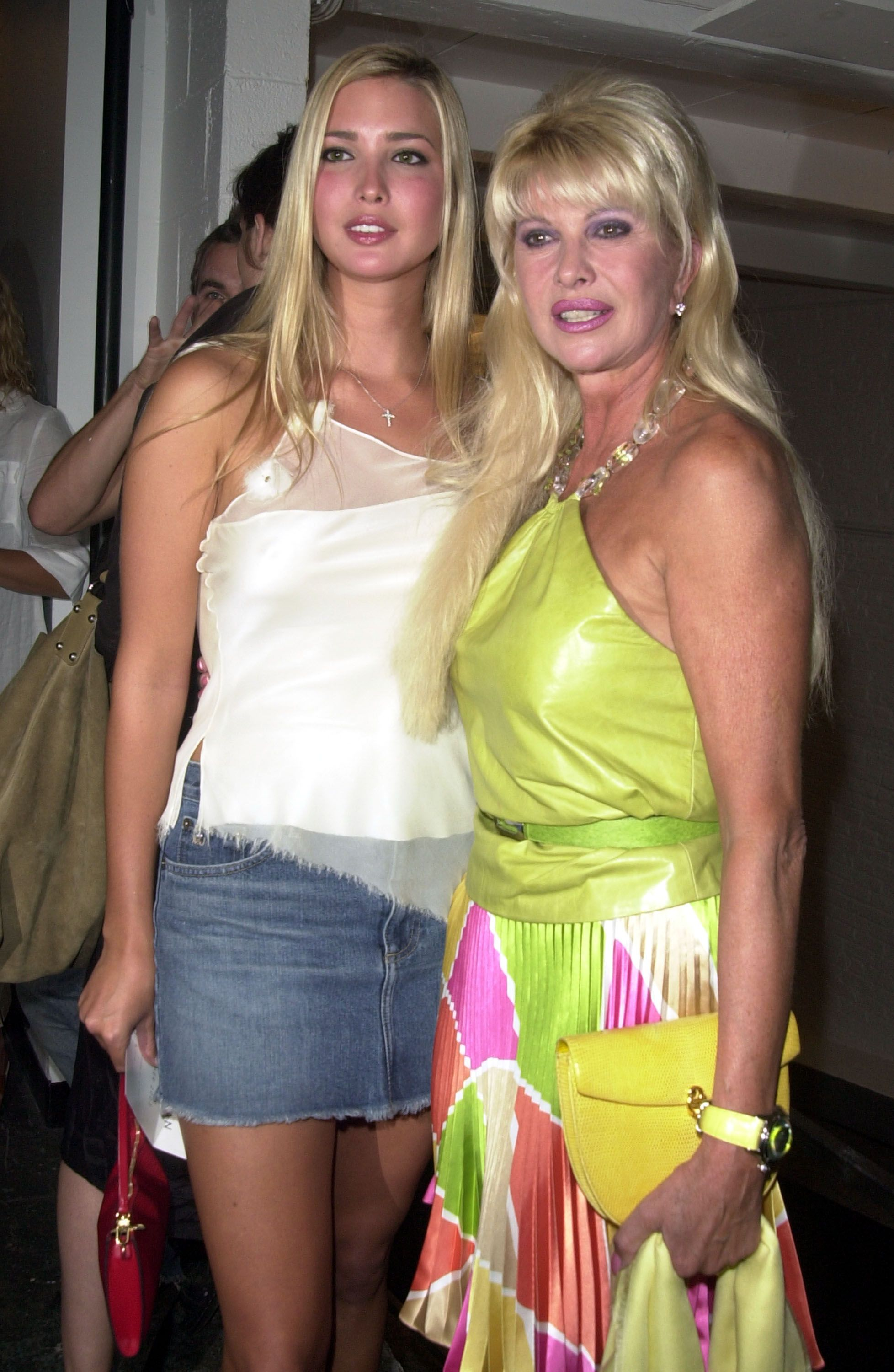 Ivanka Trump and Ivana Trump during 2002 New York Fashion Week in New York, United States | Photo: Getty Images