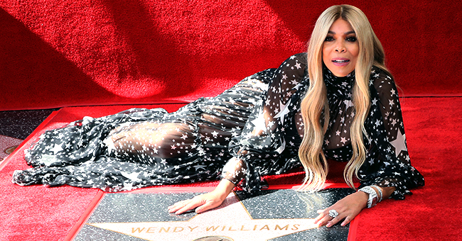 Wendy Williams Stuns in Sheer Star-Covered Dress as She Receives a Star on Hollywood Walk of Fame