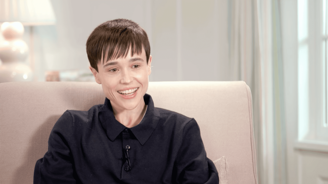 Elliot Page during an interview with Oprah Winfrey uploaded in May 2021   Photo: YouTube/Apple TV