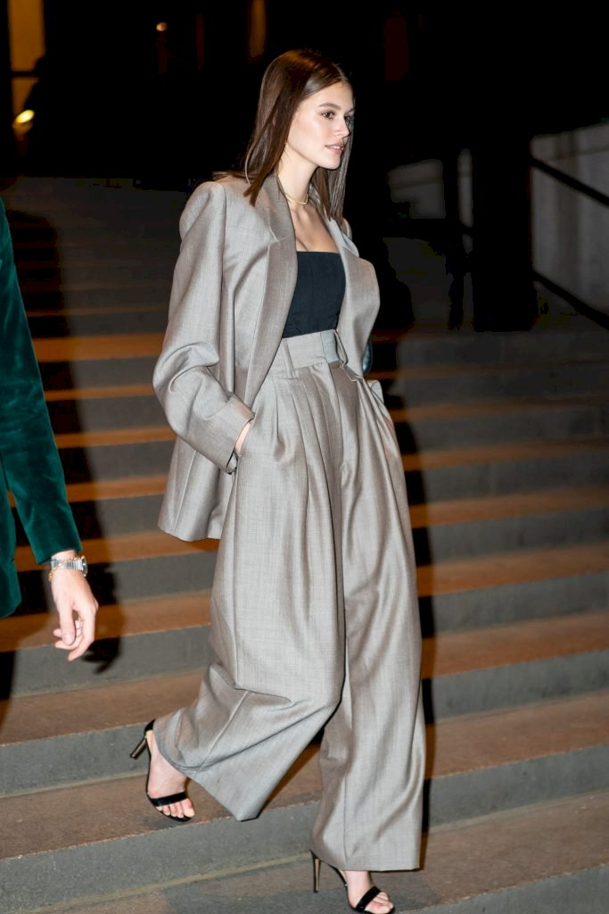 NEW YORK, NEW YORK - APRIL 06: Kaia Gerber attends Marc Jacobs and Char DeFrancesco's wedding reception at The Grill in Midtown on April 06, 2019 in New York City. (Photo by Gotham/GC Images)