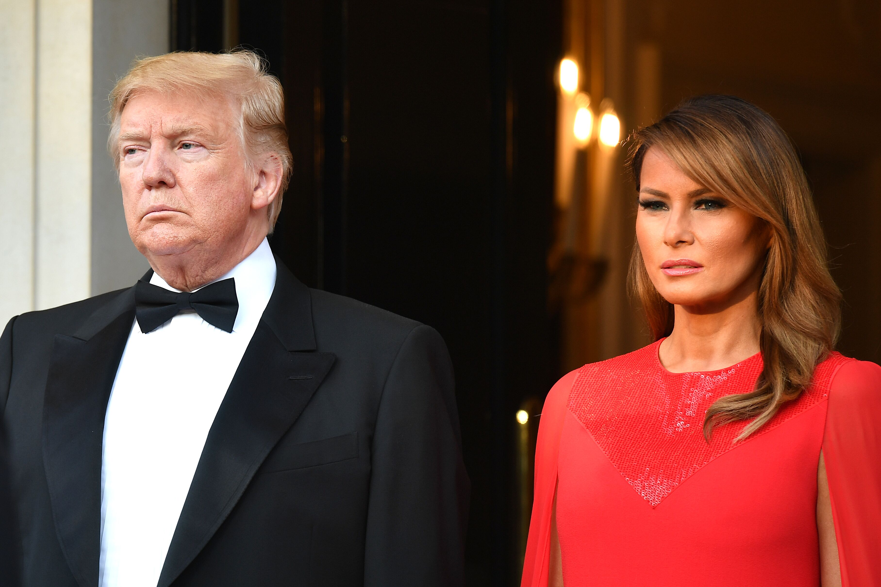 President Donald Trump and First Lady Melania Trump host a dinner at Winfield House during their state visit on June 4, 2019 in London, England. | Source: Getty Images