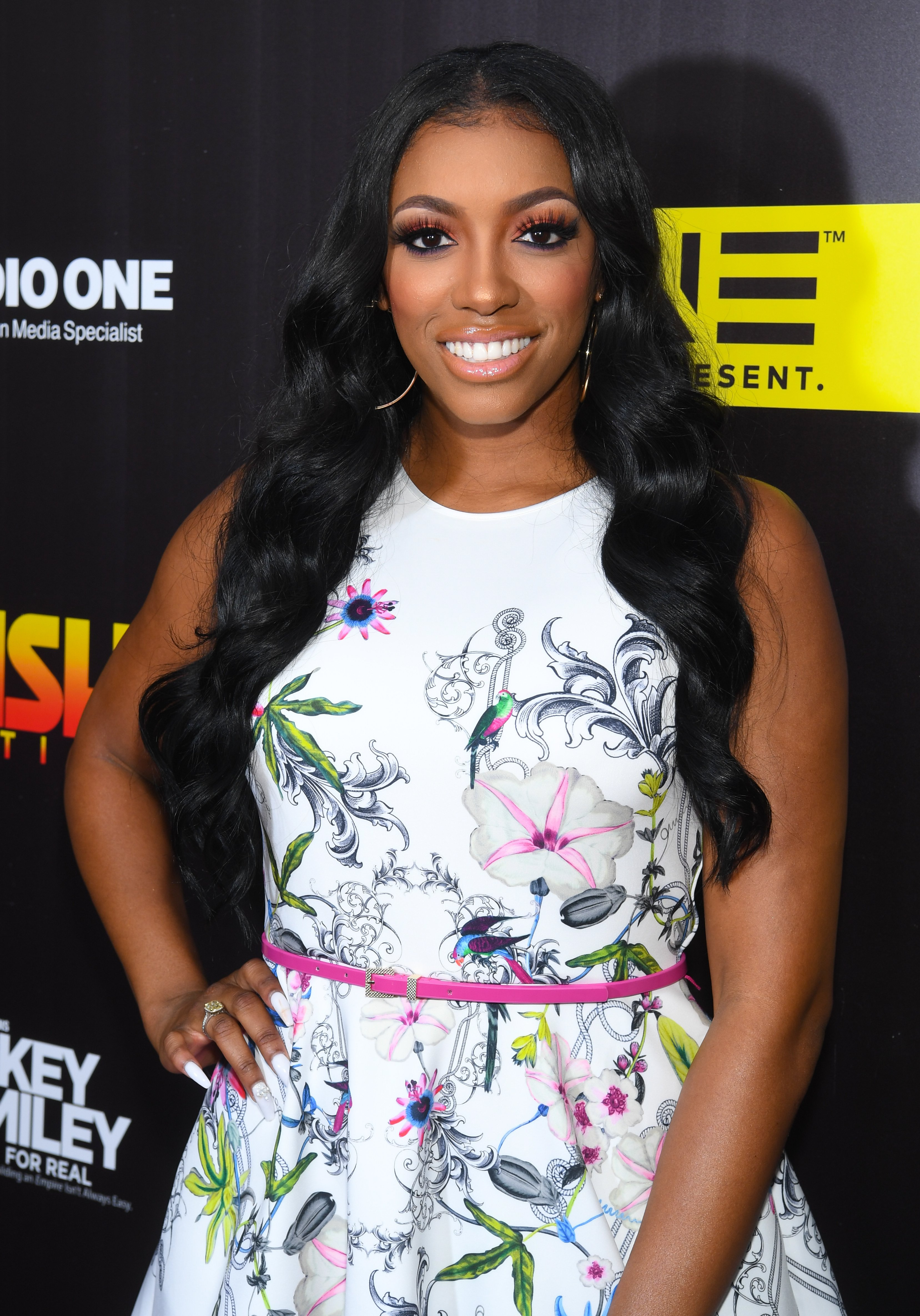 """Porsha Williams at the Season 4 premiere of """"Rickey Smiley For Real"""" in June 2017. 