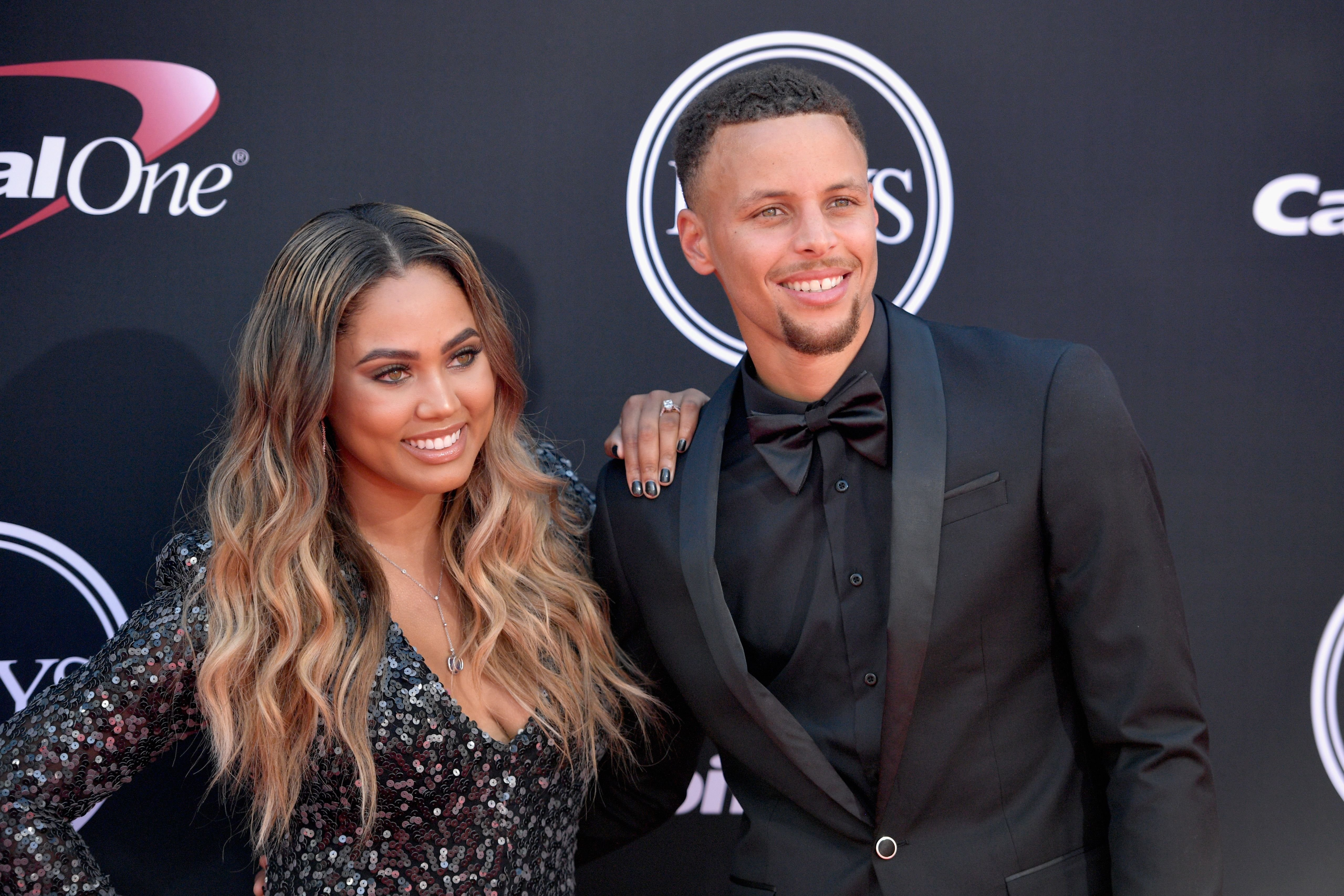 Steph and Ayesha Curry at the 2017 Excellence in Sports Performance Yearly Award in Los Angeles | Source: Getty Images