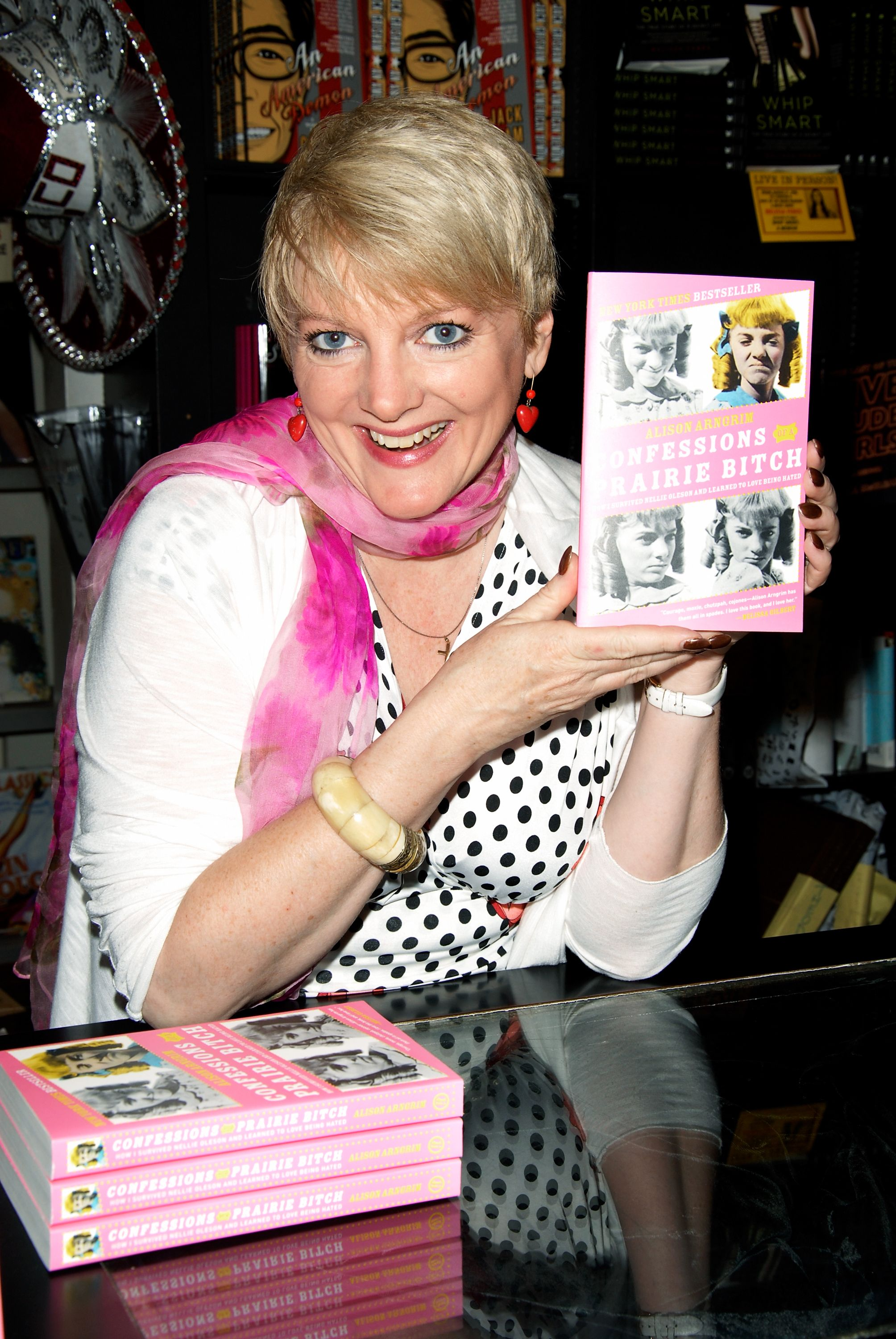 L'actrice Alison Arngrim au Book Soup le 1er août 2011 à West Hollywood, en Californie. | Photo : Getty Images