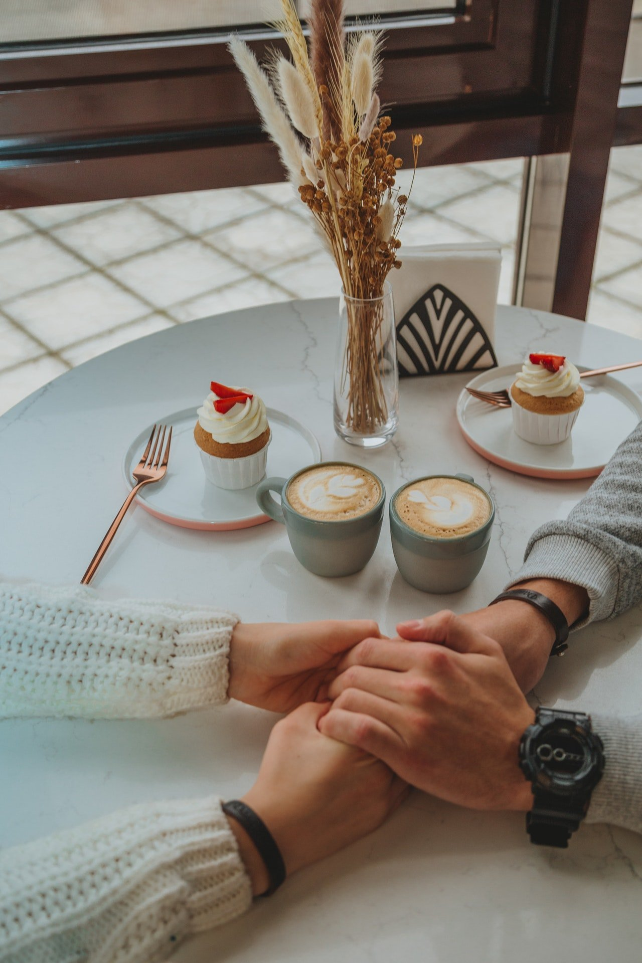 Jared and I went for coffee, and eventually, fell in love.   Source: Pexels