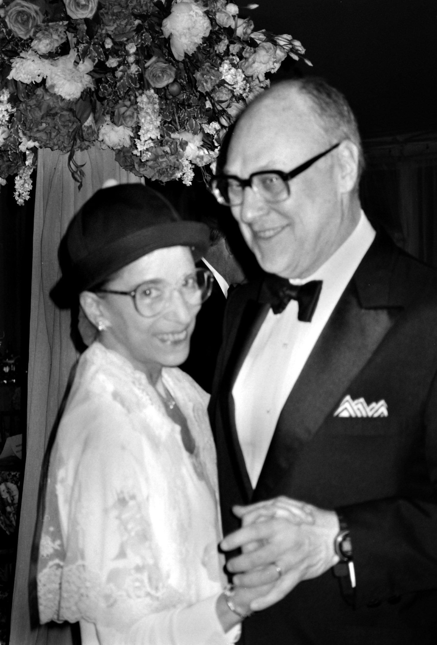 Ruth Bader Ginsburg and Martin Ginsburg at a formal event, Washington, DC. | Source: Getty Images