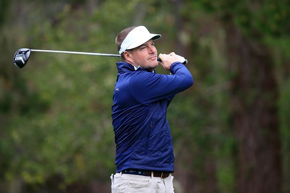 Chris O'Donnell en el AT&T Pebble Beach Pro-Am en Spyglass Hill, California. | Imagen: Getty Images