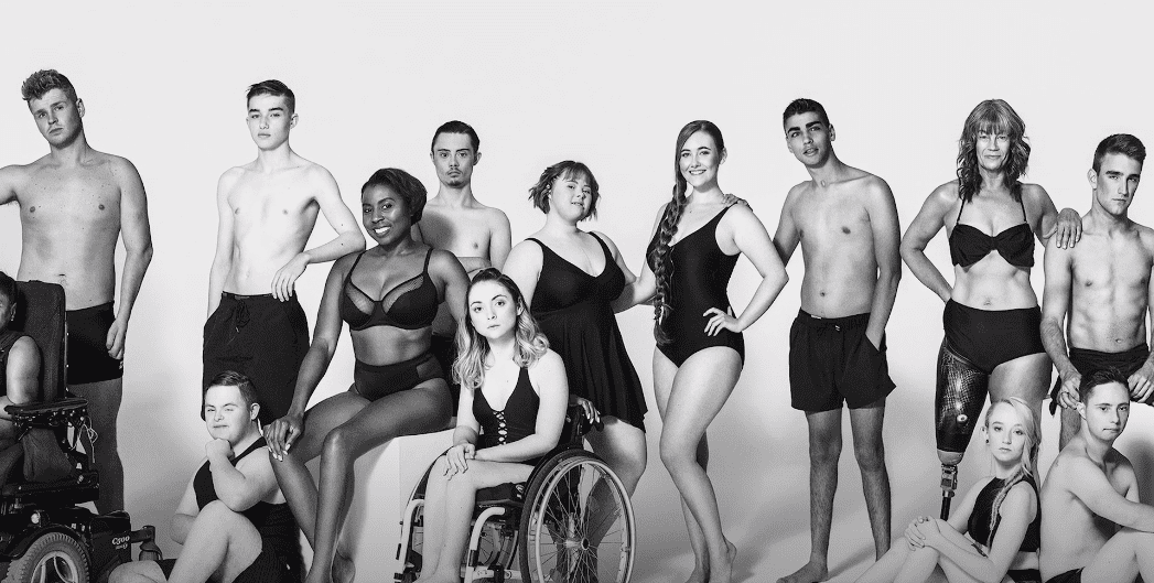Zebedee Management's models at a body confidence building shoot in 2018. | Photo: YouTube/Zebedee Management