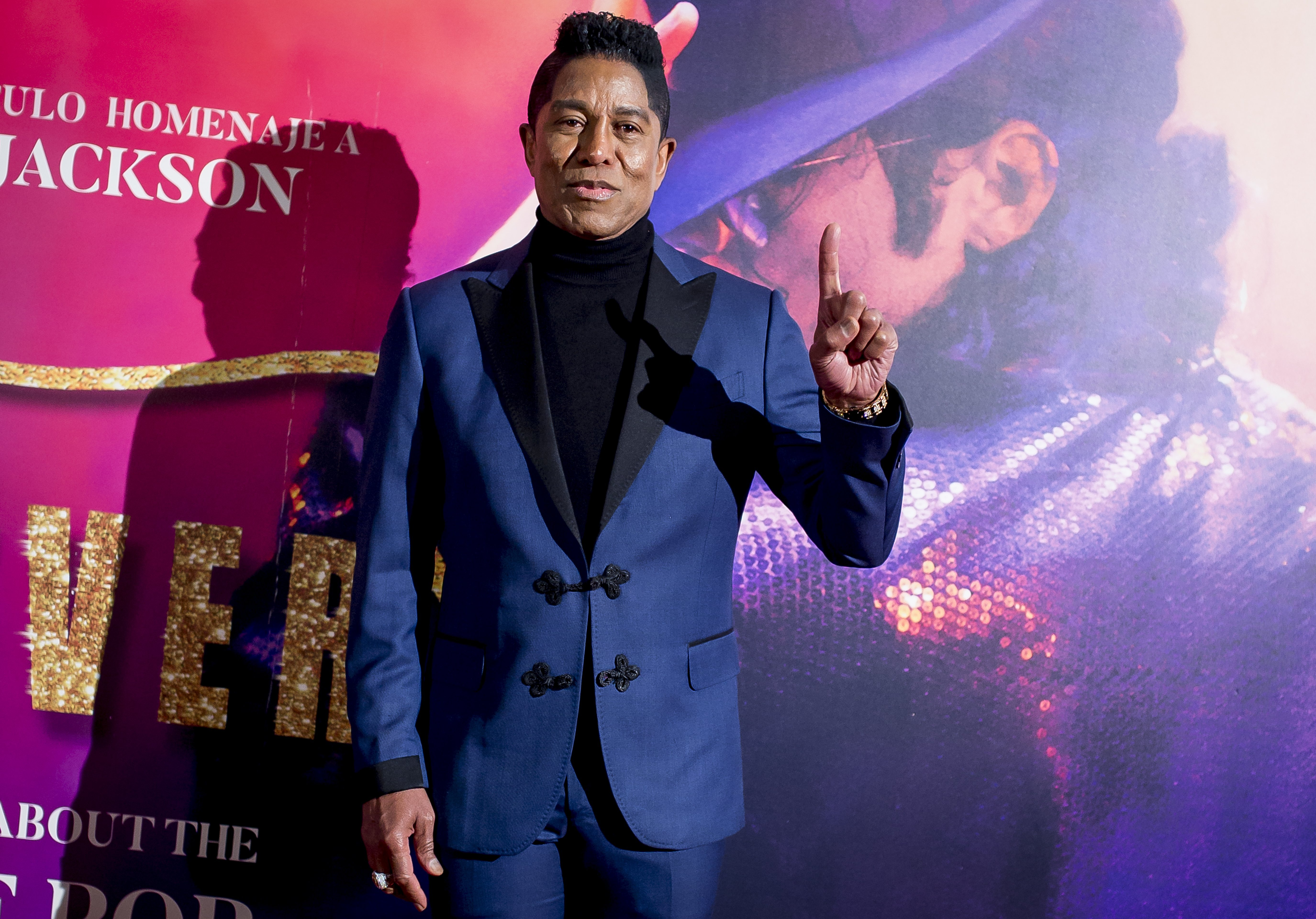 "Jermaine Jackson attends the ""Forever Jackson"" Madrid Premiere on January 18, 2018, in Madrid, Spain. 