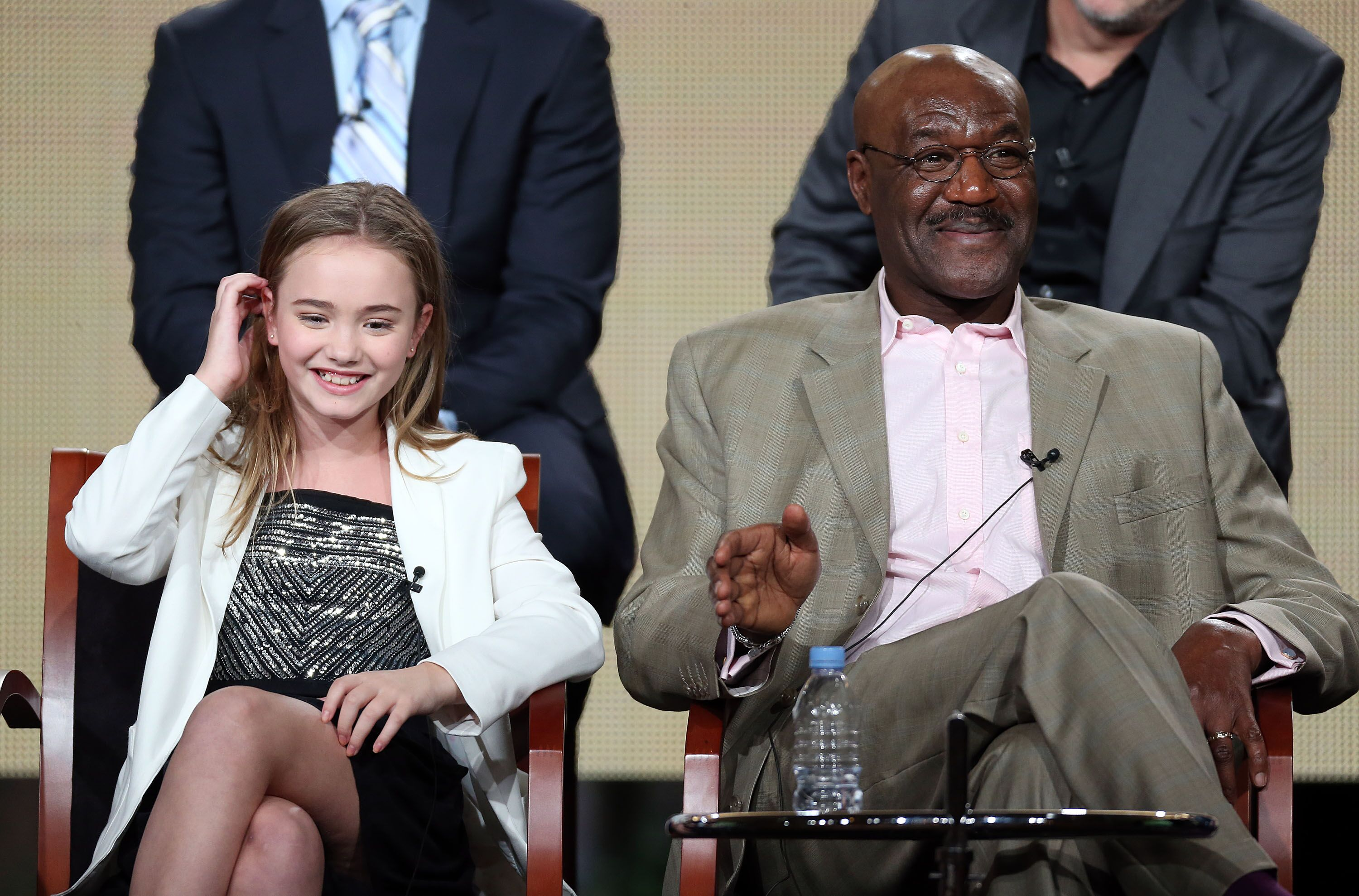 Actress Johnny Sequoyah and actor Delroy Lindo during the NBC portion of the 2014 Television Critics Association Press Tour at the Langham Hotel on January 19, 2014 in Pasadena, California | Photo: Getty Images