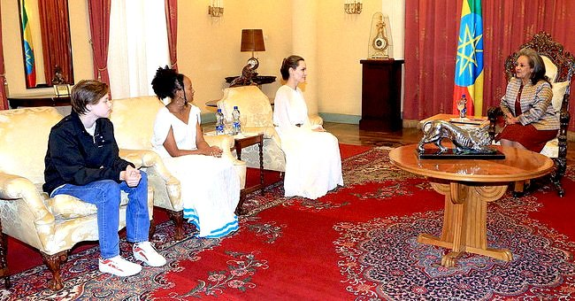 Angelia Jolie Takes Daughter Zahara to Her Birth Country to Meet Ethiopia's First Female President Sahle-Work Zewde