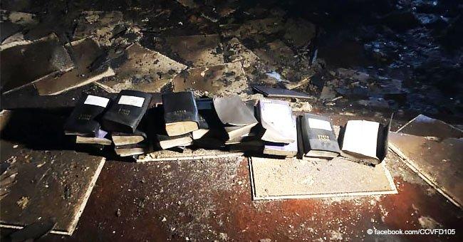 Iglesia se incendia ferozmente, pero las cruces y Biblias terminan intactas