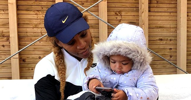 Serena Williams' Daughter Olympia Melts Hearts in Her Denim Sundress While Playing with Toys in Photo
