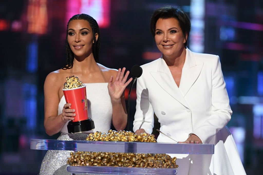 Kim Kardashian and Kris Jenner accept the Best Reality Series or Franchise award for 'Keeping Up with the Kardashians' during the 2018 MTV Movie And TV Awards, June 2018   Source: Getty Images