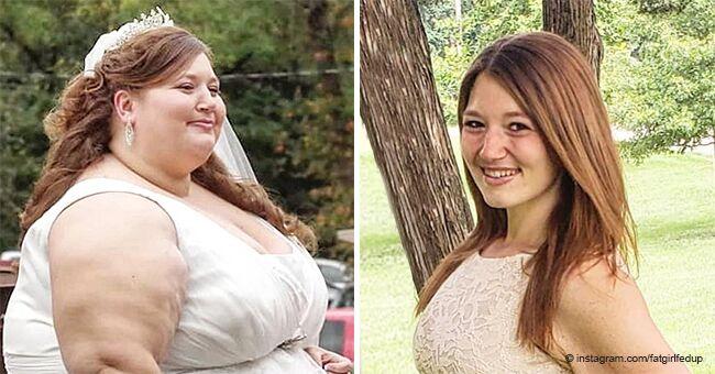 Une fille raconte une histoire incroyable sur sa perte de 141 kg en deux ans et les changements sont frappants
