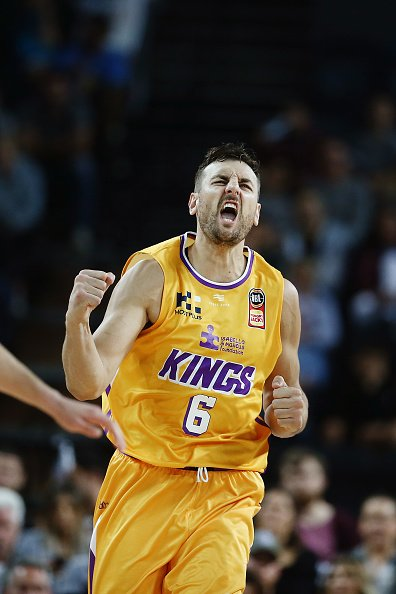 Andrew Bogut during the round three NBL match between the New Zealand Breakers and the Sydney Kings at Spark Arena on October 20, 2019 in Auckland, New Zealand.   Photo: Getty Images