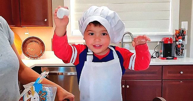 Watch as a Grandma Can't Stop Laughing as Her Grandson Tries to Eat the Cookie Mix Ingredients