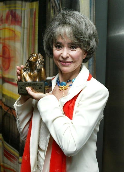"""Rita Moreno receives """"The Julie Harris Award"""" for lifetime achievement at The 2003 Tony Awards Party hosted by Jennifer Tilly at the Skirball Center on June 8, 2003, in Los Angeles, California. 