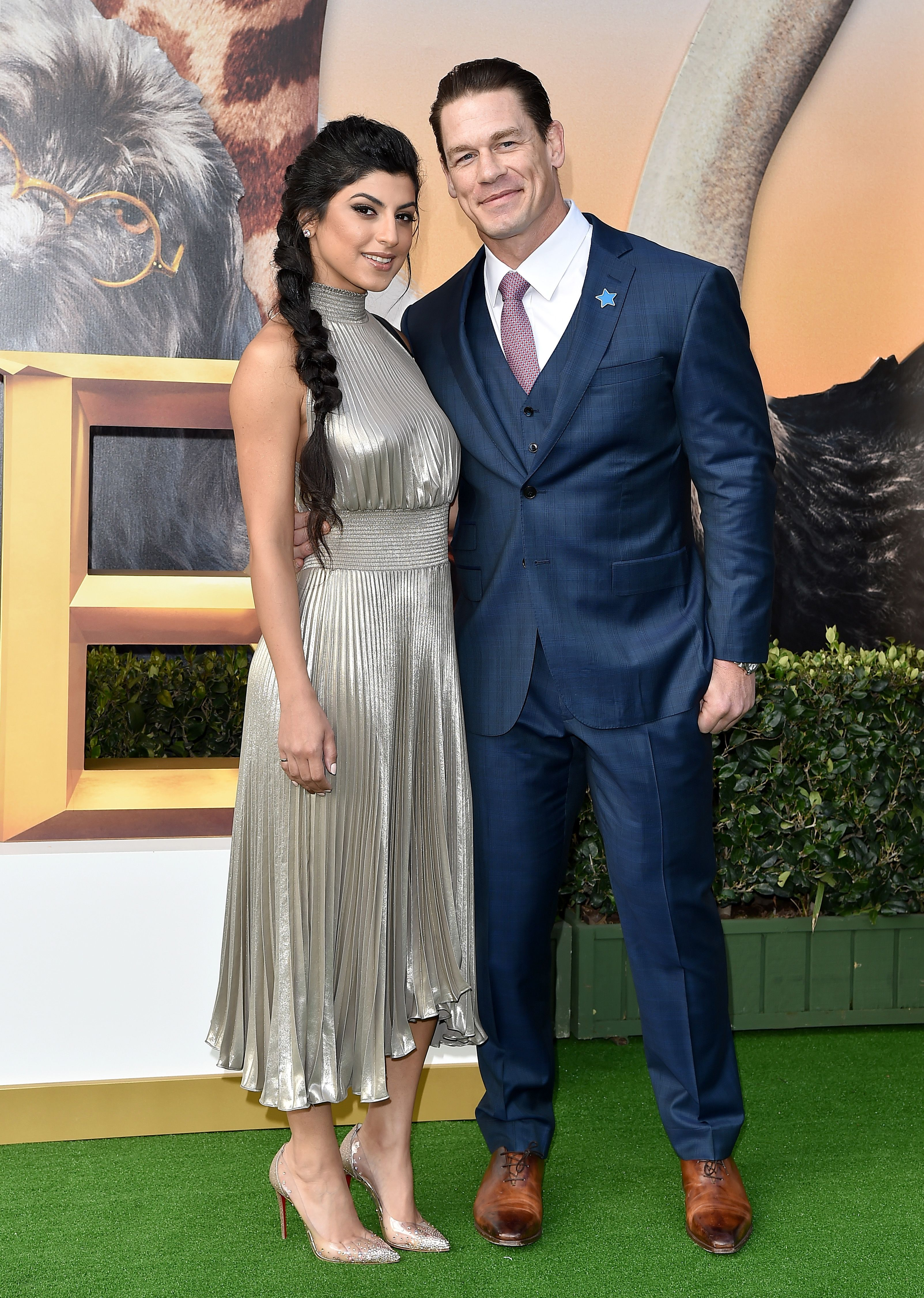 """Shay Shariatzadeh and John Cena at the premiere of Universal Pictures' """"Dolittle"""" at Regency Village Theatre on January 11, 2020 