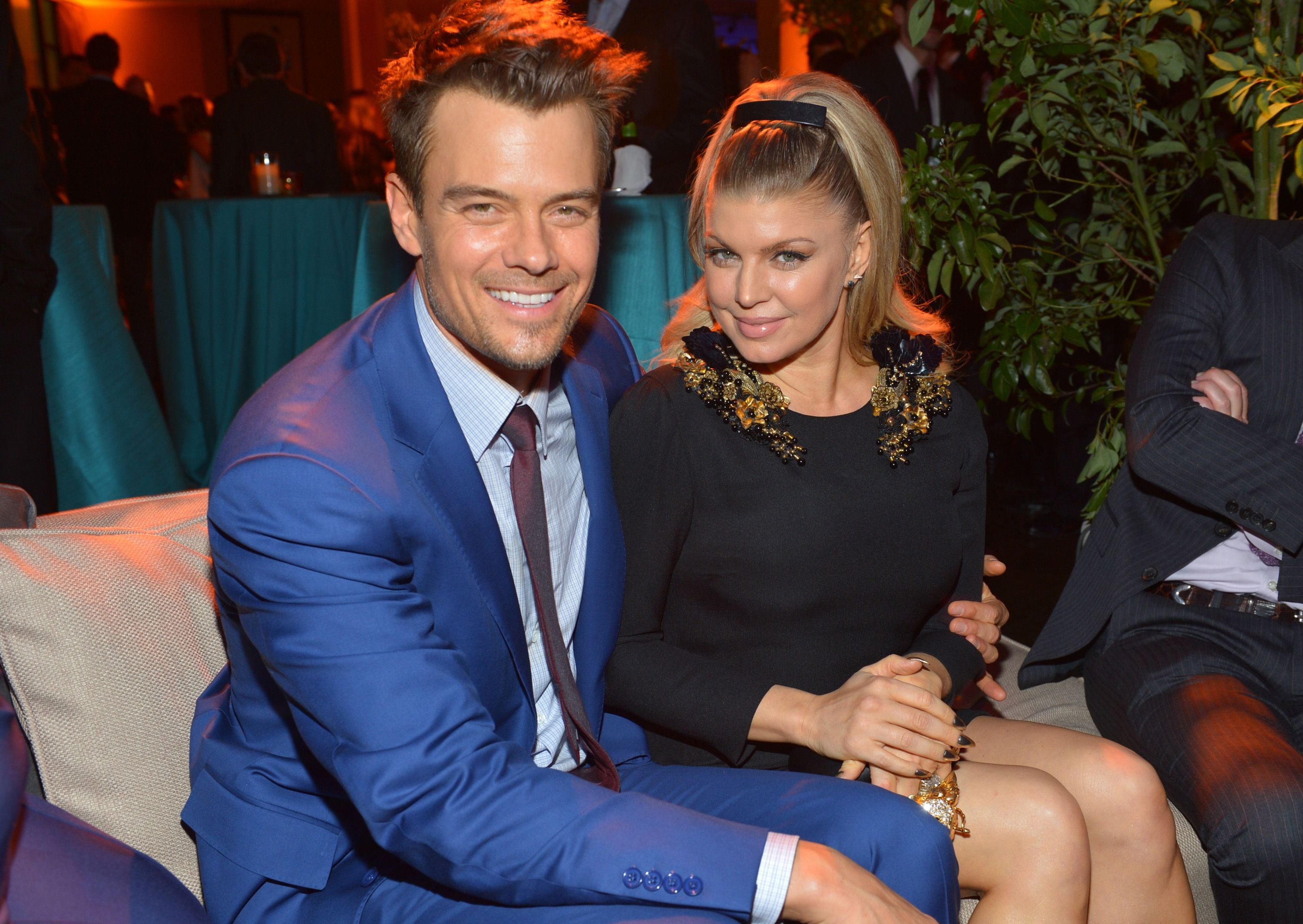 "Josh Duhamel and singer Fergie at the premiere of  ""Safe Haven"" in 2013 in Hollywood 