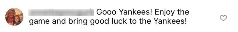 A fan cheering for the Yankees on AI Roker's post | Source: Instagram/@alroker