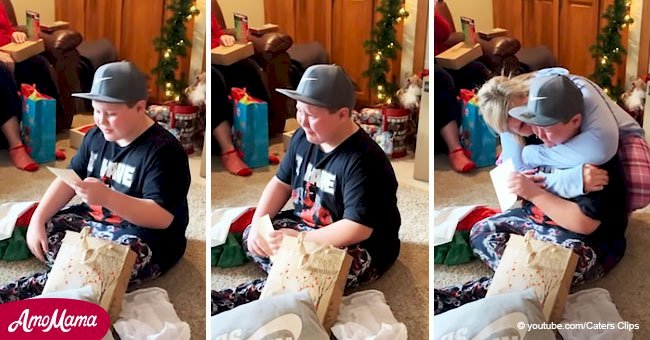 11-year-old left in tears when he finds out his Christmas present is that he is being adopted