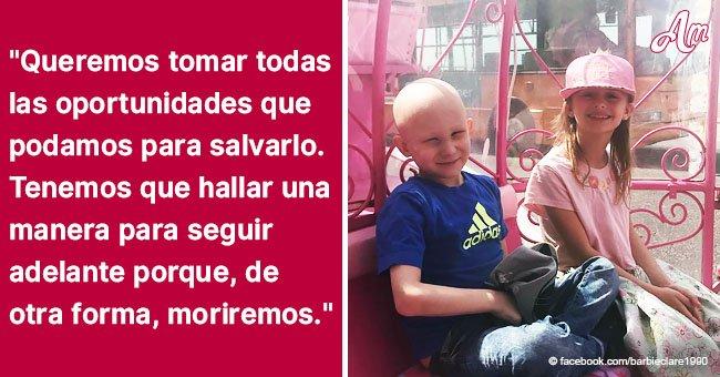 Familia intenta recaudar 90.000 dólares para hijo de 8 años diagnosticado de cáncer por 3° vez