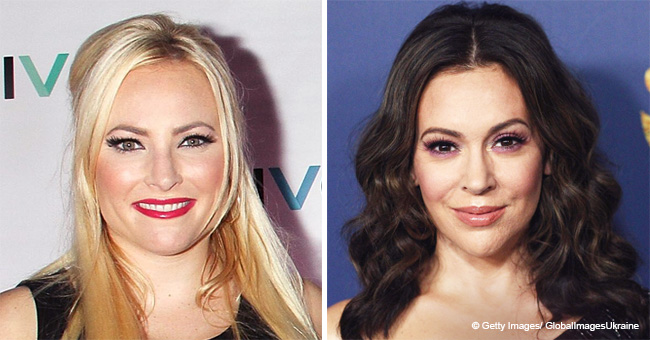 Meghan Mccain and Alyssa Milano Show Support for Joe Biden Amid a Second Accusation
