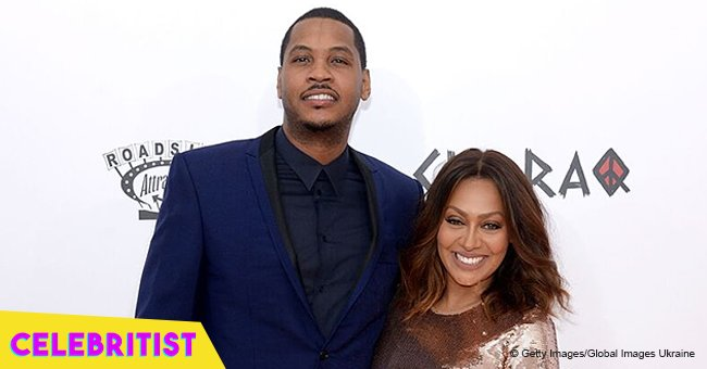 Carmelo and LaLa Anthony spotted together with their son at NBA Africa game