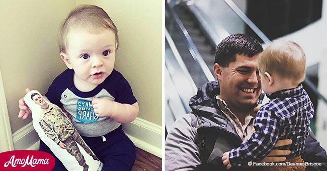 Une femme a trouvé un moyen unique de réconforter son fils qui attendait le retour de son père