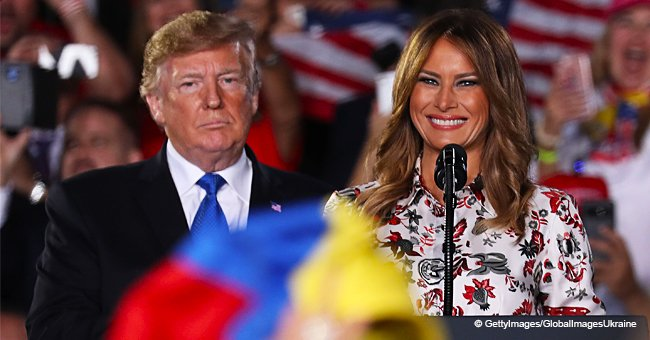 Melania Trump's floral dress under scrutiny as people call it the 'ugliest dress ever'