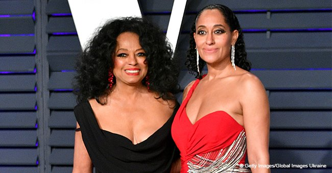 Diana Ross & Daughter Tracee Radiate Elegance in Fitted Dresses as They Pose at Vanity Fair Party