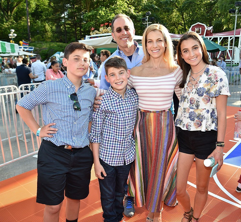 Jerry and Jessica with their children Julian, Shepherd, and Sascha. I Image: Getty Images.
