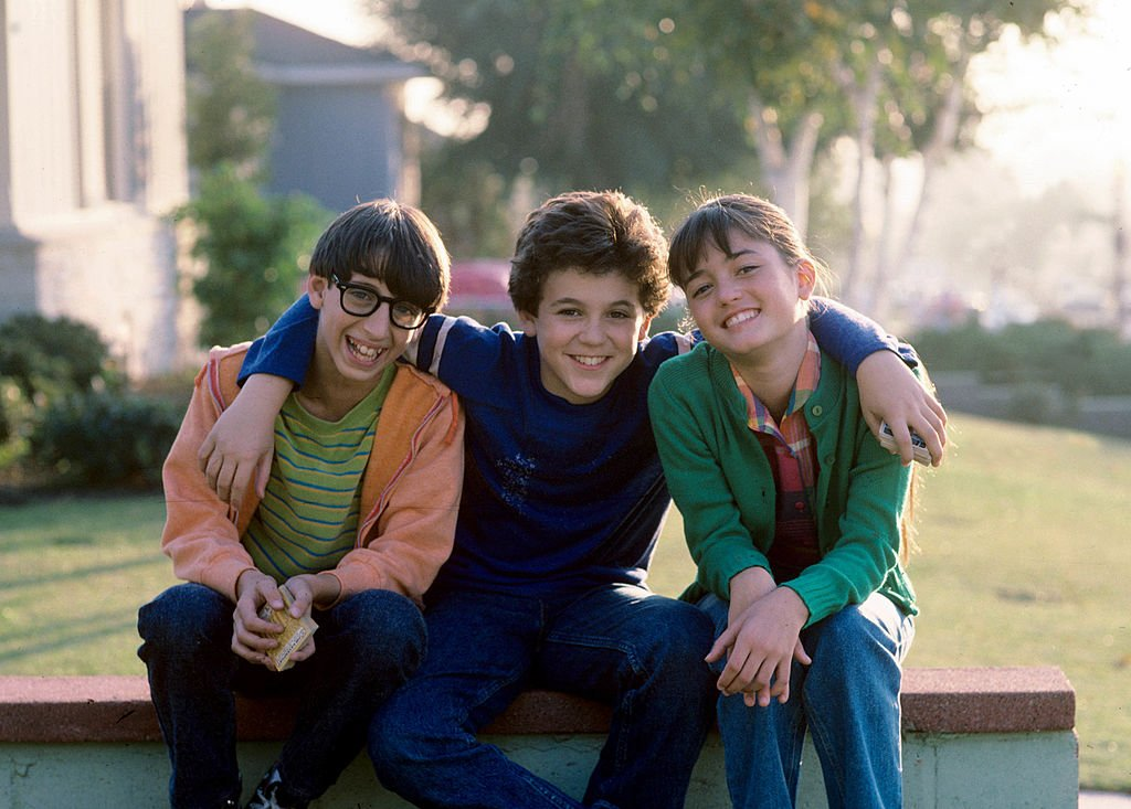"THE WONDER YEARS - ""The Heart of Darkness"" - Season Two - 11/30/88, Paul (Josh Saviano, left) and Kevin (Fred Savage) wanted to join the in-crowd with Winnie (Danica McKellar) 