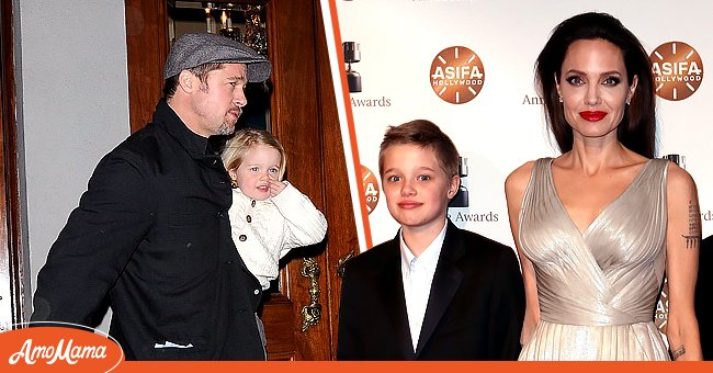 Angelina Jolie and Brad Pitt with their daughter, Shiloh Jolie-Pitt | Photo: Getty Images