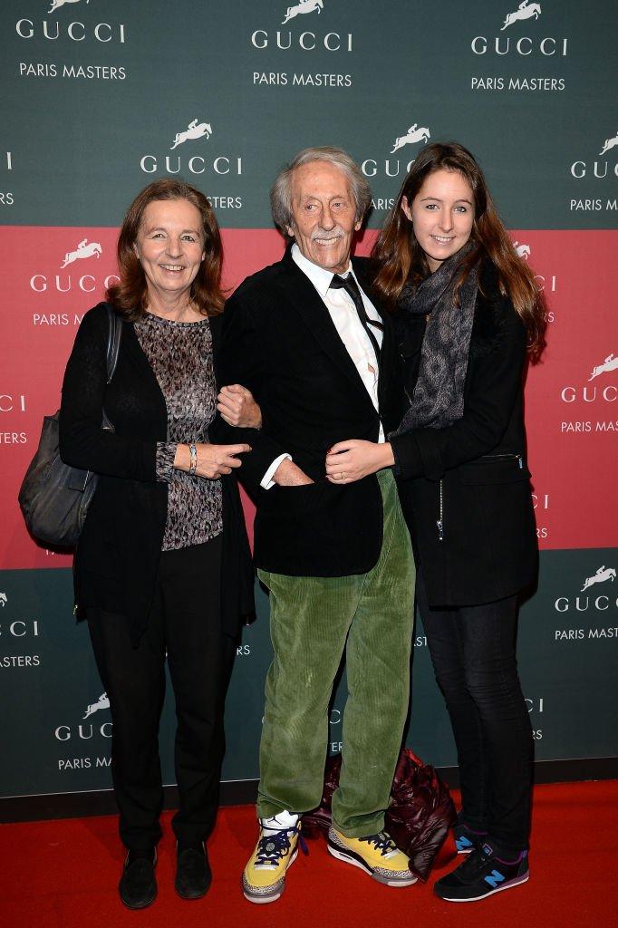 Jean Rochefort avec sa femme Françoise Vidal et leur fille Clémence en 2013. Photo : Getty Images