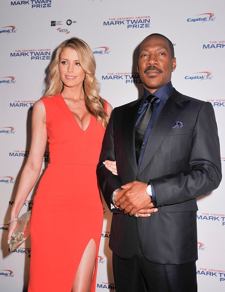 Eddie Murphy and his fiancé Paige Butcher at the red carpet of the 18th Annual Mark Twain Prize for Humor in Washington in October 2015. | Photo: Getty Images