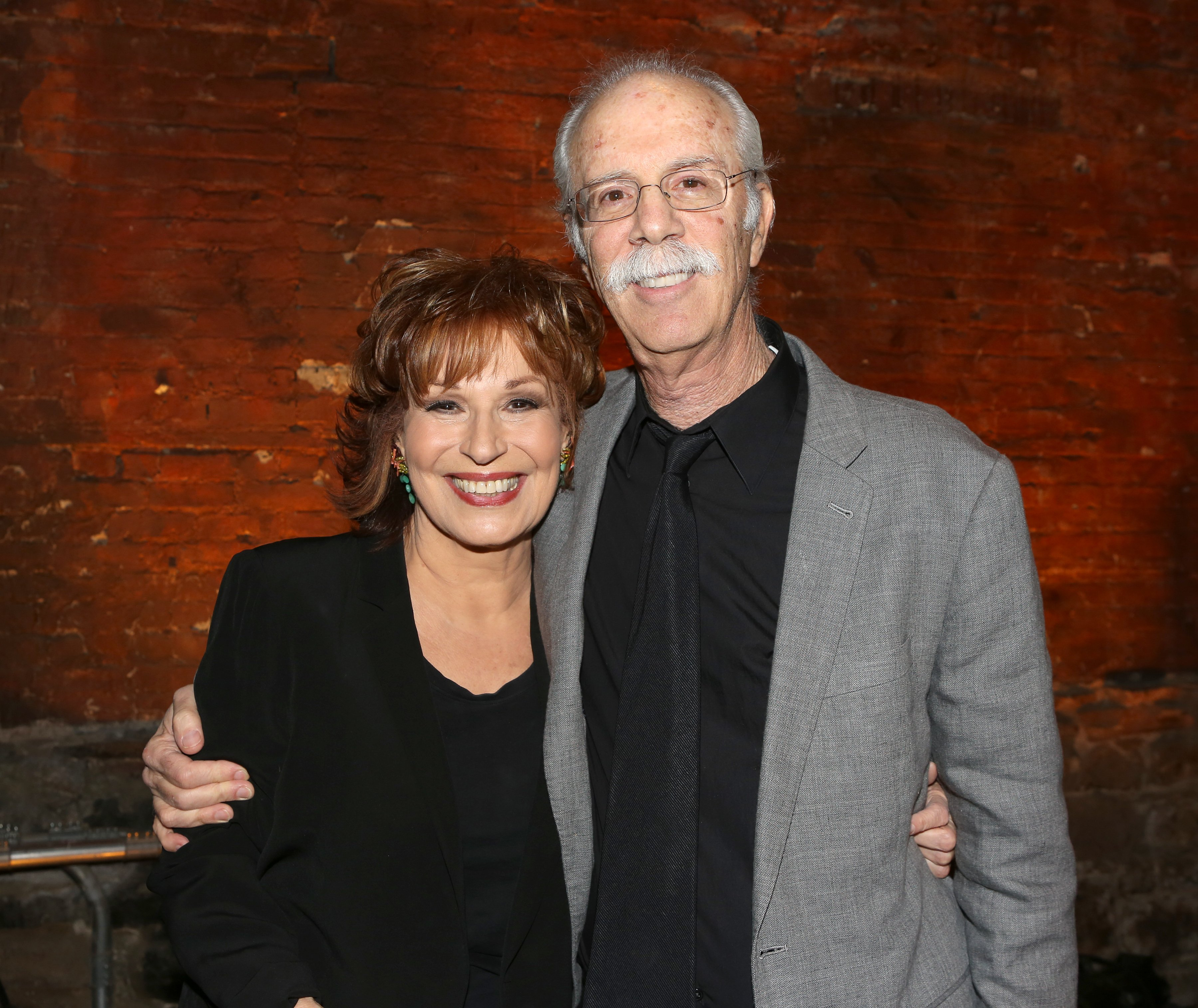 """Joy Behar and her husband, Steve Janowitz at the opening of Behar's """"Me, My Mouth and I"""" in New York City, November 23, 2014. 