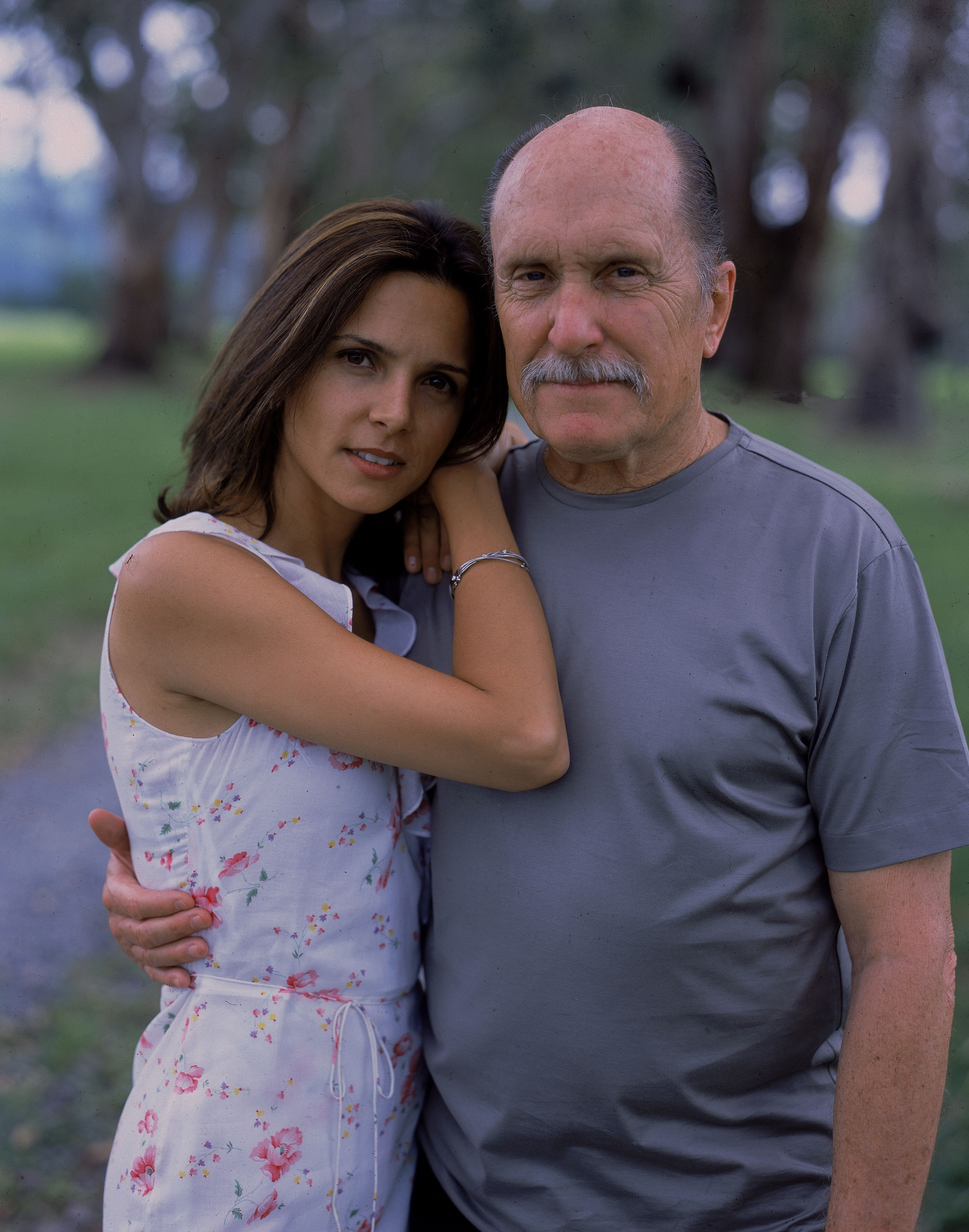 Robert Duvall and Luciana Pedraza in Argentina, 2003. | Source: Getty Images