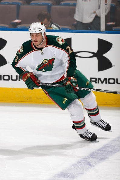 Derek Boogaard #24 of the Minnesota Wild skates against the Edmonton Oilers on March 5, 2010, at Rexall Place in Edmonton, Alberta, Canada. | Source: Getty Images.
