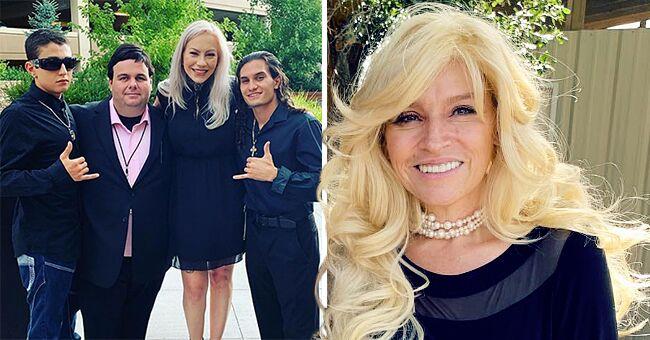 Leland Chapman's Sons Dakota and Cobie Pose with Stepmom Jamie Pilar at Beth Chapman's Funeral (Photo)