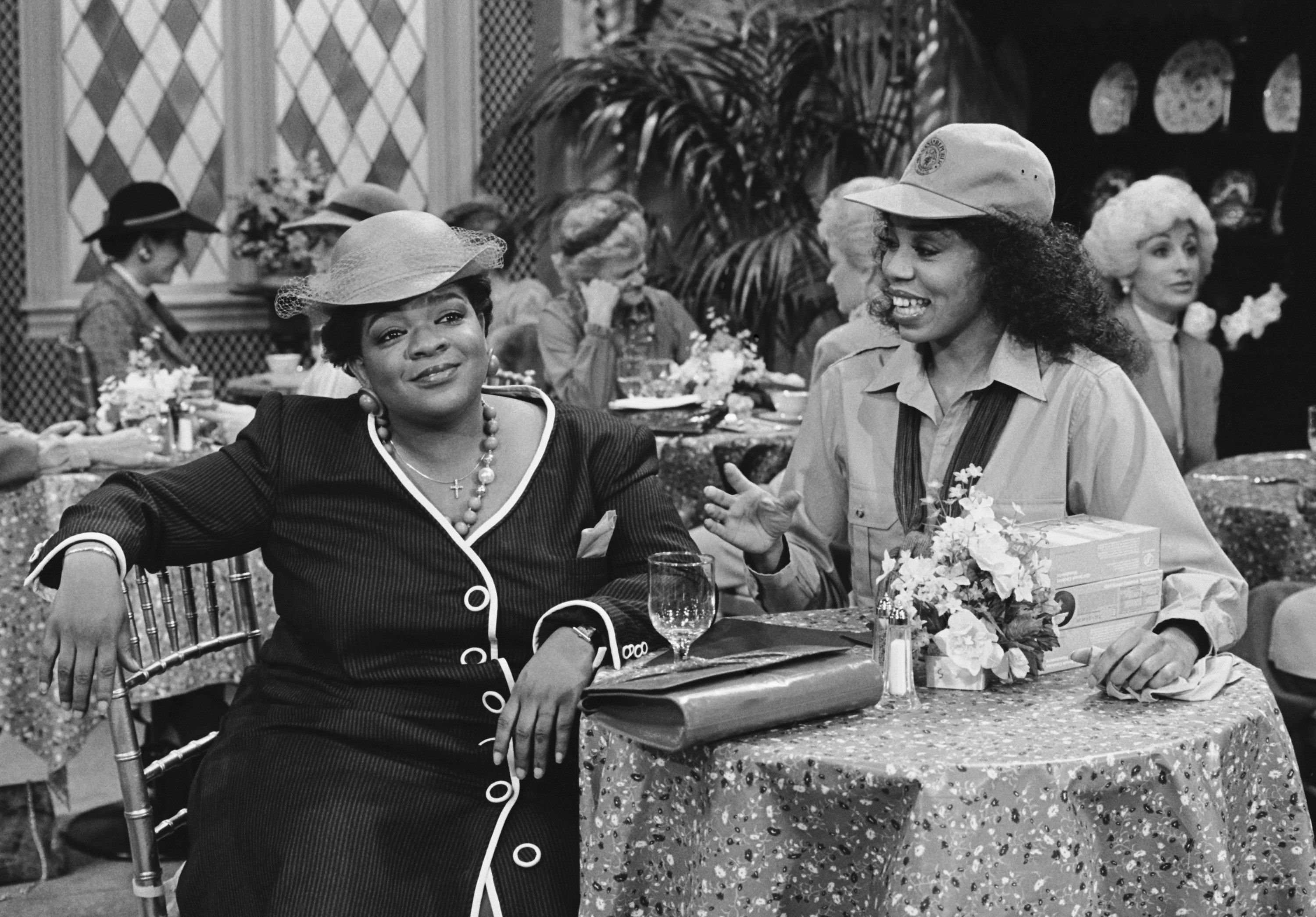 "Nell Carter and Sheila Frazier in ""Gimme a Break!"" in 1985 