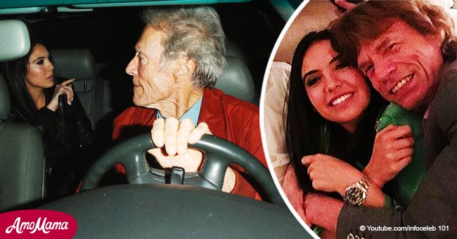 Clint Eastwood spotted with Mick Jagger's 23-year-old ex-girlfriend on a night out