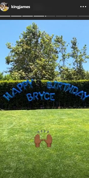 LeBron James posted a photo of balloons for his son Bryce James on his 13thbirthday   Source: Instagram.com/kingjames